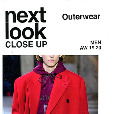 2019_20秋冬《next look close up》男装系列款式期刊